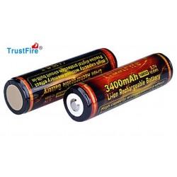 Baterías de Litio 18650 3400mA.