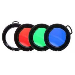 Filtros de colores 43mm para Linternas Trustfire C8