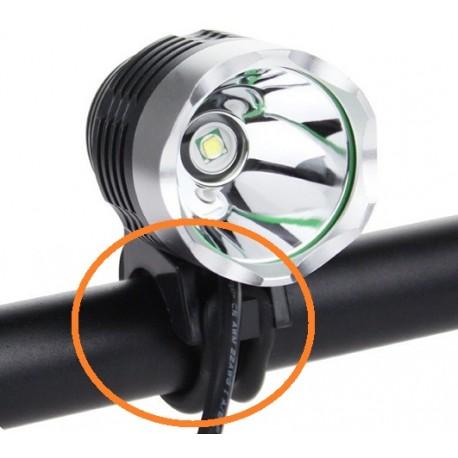 Soporte de goma Circular para linternas de bicicleta