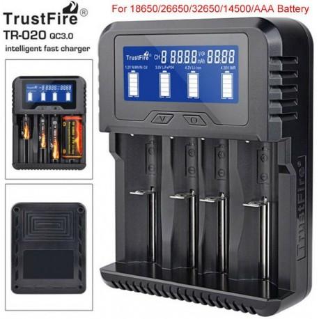 Cargador de baterías Litio Trustfire TR-020 de 4 bahías
