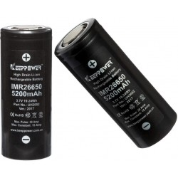 Batería de Litio 26650 3.7v 5.200mA KeepPower Recargable