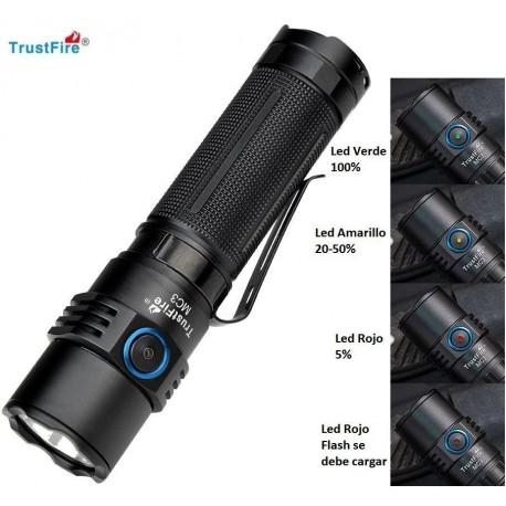 Linterna de Mano Led Trustfire MC-3 2500Lm