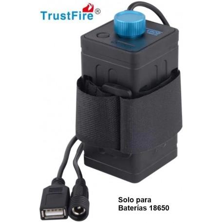 Porta Baterías 4x18650 Cables USB EB02