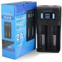 Cargador de 2 Baterías de Litio con Usb Trustfire TR-019