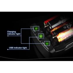 Cargadores de baterías TR-007 de 2 bahías