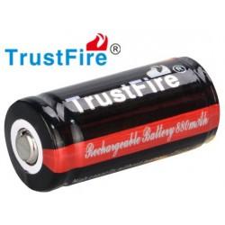 Baterías Litio Trustfire 16340 Flame