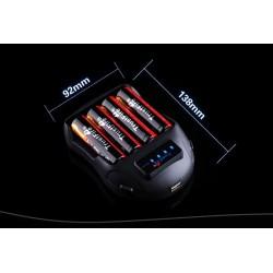 Cargadores baterías Litio Trustfire TR-009 4 bahías