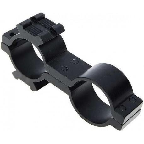 Montura de Linterna para armas doble anillo 25x30