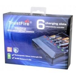 MultiCargador de baterías TR-012 de 6 bahías
