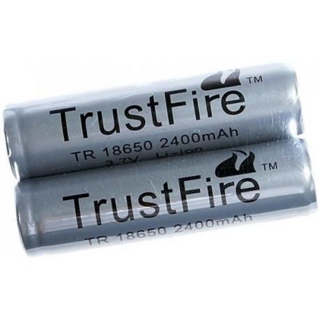 Baterías de Litio TR18650 2400mA.Gris